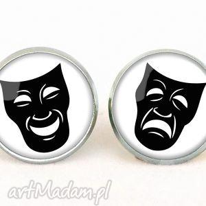 handmade kolczyki maski teatralne - kolczyki sztyfty
