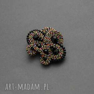 klipsy kolorowe sutasz, sznurek, delikatne, kolorowe, koraliki