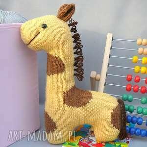 hand-made zabawki przytulanka podusia żyrafka