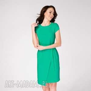 handmade sukienki sukienka kopertowa silena turkusowa zieleń roz. 38