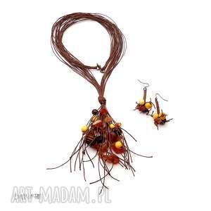 inadian summer ii komplet biżuterii, karneol, jesień, jesienne, naturalny