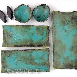 oryginalny prezent, polepione ceramiczny zestaw do sushi, talerz, patera