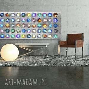 obraz na płotnie - 150x60cm abstrakcja koła 02122 wysyłka w 24h, obraz