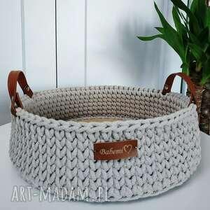 handmade kosze taca ze sznurka bawełnianego