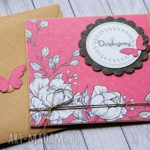 hand made kartki dziękujemy: kartka handmade:: podziękowanie