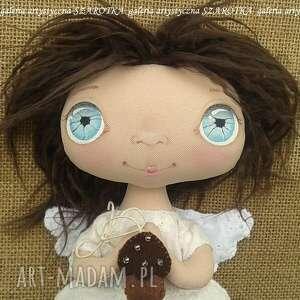 szarotka aniołek lalka - dekoracja tekstylna, ooak, aniołek