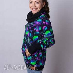 bluzy bluza damska violet, z kominem, kolorowe bluzy, damskie