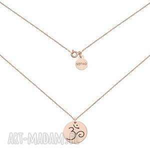ręcznie robione naszyjniki naszyjnik z różowego złota z symbolem om