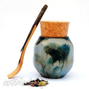 Ceramiczny pojemnik - Pojo IX nr154a, pojemnik, naczynie, użytkowe, unikatowe