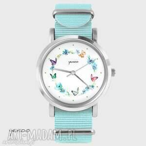 Prezent Zegarek, bransoletka - Kolorowy wianek niebieski, nato, zegarek
