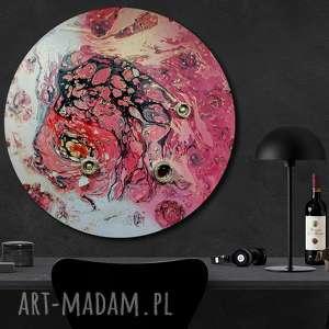 krajobraz księżycowy 19, kosmos, niebo, planeta, tondo, okrągły obraz