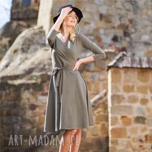 sukienki sukienka kopertowa | atencja oliwkowa