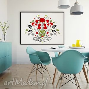 Kwiaty naszych pól... maki - 30x40 cm., plakat, kwiaty, maki, ilustracja, wydruk