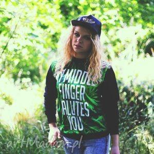 unikatowa modna bluza z napisem nadrukiem marihuny, bluza, dresowa, sportowa,