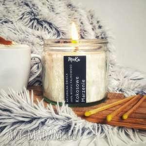 ręczne wykonanie świeczniki naturalna świeca kokosowe marzenie