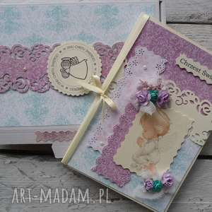 scrapbooking kartki kartka chrzest pudełko, kartka, chrzest, dziecko