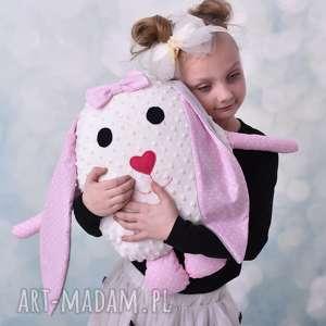 poduszka dziecieca królik z uszami, poduszka, hand made, prezent