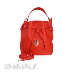 torebki stylowy worek torebka manzana luźny styl- czerwony, torba, torebka, damska