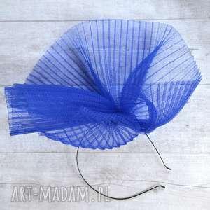 chabrowy czar, fascynator, chabrowy, kobalt, niebieski, kapelusz