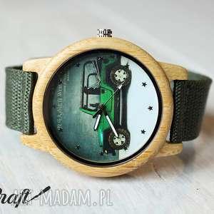 ręcznie wykonane zegarki drewniany zegarek military car