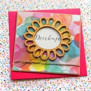 handmade kartki dziękuję: podziękowanie: kartka