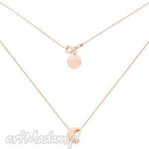 hand made naszyjniki naszyjnik z różowego złota z księżycem