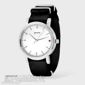 zegarek, bransoletka - simple elegance, biały czarny, nato