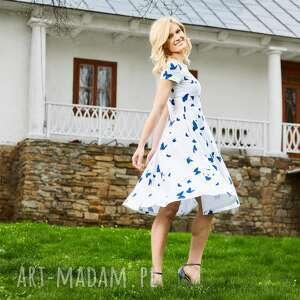 RUSAŁKA sukienka z dzianiny bawełnianej, sukienka, dzianina, bawełna, rozkloszowana
