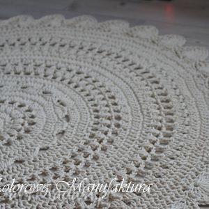 Dywan Ażur - dywan bawełniany ze sznurka szydełko Kolorowa Manufaktura 160cm,