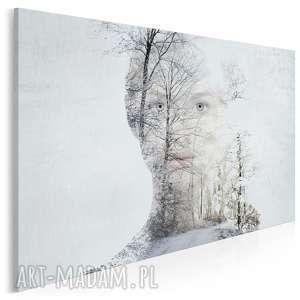 obraz na płótnie - królowa śniegu 120x80 cm 20401, zima, śnieg, kobieta