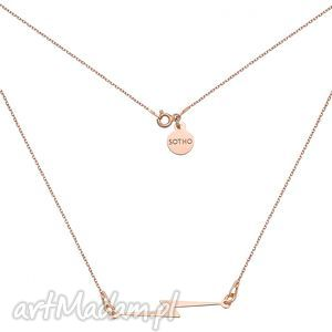 naszyjnik z piorunem z różowego zota - minimalistyczny, zawieszka