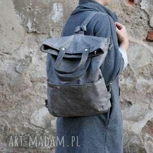 3w1 plecako - torba szary vegan na ramię manufakturamms torba