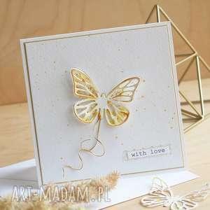 scrapbooking kartki kartka na różne okazje, motylek, urodzinowa, imieninowa