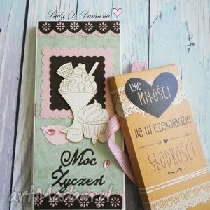 Stylowa kartka z opakowaniem na Czekoladę/Etui/Czekoladownik, etui, kartka, czekolada