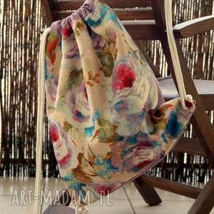 Prezent Plecak - worek, kwiaty, modny, wiosenny