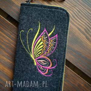 etui filcowe na telefon - motylek, smartfon, pokrowiec, futerał, motyl