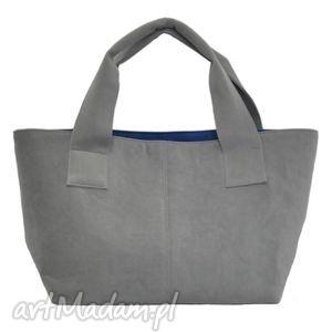 14-0001 szara damska torebka do ręki shopper bag pelican, modne, damskie