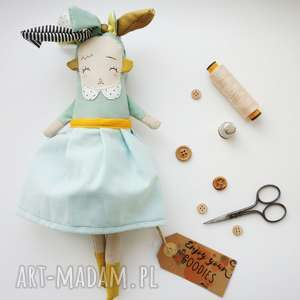 monsterÓwna helena - lalka/ zabawka/ handmade, zabawka, maskota, laleczka, miętowy