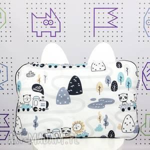 hand made dla dziecka poduszka ciuchcie