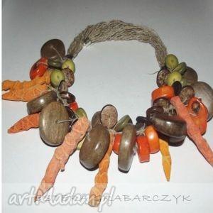 handmade obrączki pomarańczowa jesień