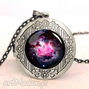 nebula - sekretnik z łańcuszkiem, sekretnik, medalion, nebula, kosmos, wszechświat