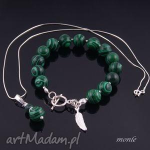 zielony komplet z malachitu 2 na zamówienie dla pani gosi - bransoletka