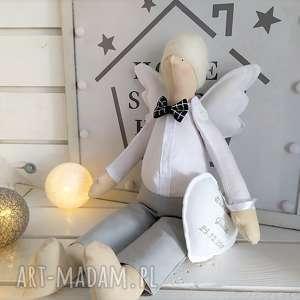 Anioł tilda pamiątka chrztu świętego stróż lalki