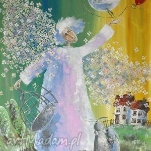 Serdecznie pozdrawiam, wydruk, 4mara, obraz, wiosna, serce, anioł