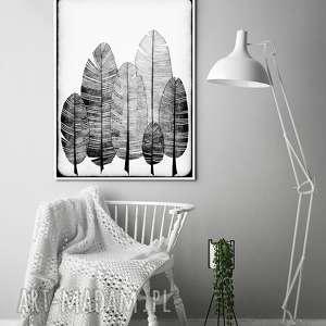 piórka a3, pióra, piórka, plakat, ilustracja, sztuka
