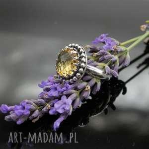 Sari - srebrny pierścionek z cytrynem, pierścionek, regulowany, cytryn, vintage