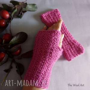 rękawiczki mitenki - rękawiczki, mitenki, na drutach, na prezent, wełniane