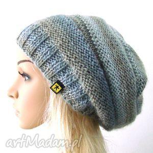 czapka w szarościach - czapka, czapeczka, lekka, ciepła, pachnąca, zima