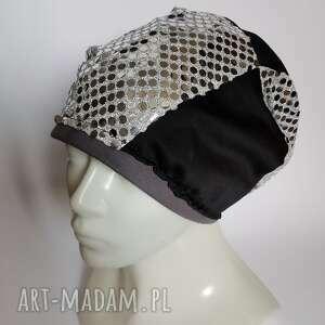 czapki czapka damska na podszewce cekinowy totalnie pojechana, lekko rozciągliwa