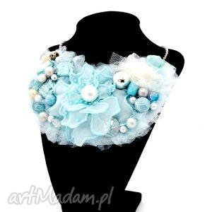 Wielki błękit naszyjnik handmade naszyjniki oheve handmadedesign
